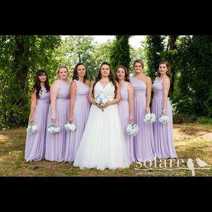 David's Bridal F19932 - One-shoulder Bridesmaid
